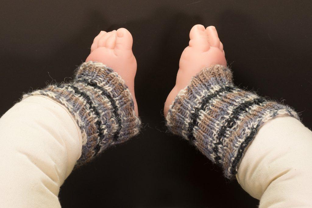 handgestrickte Stulpen