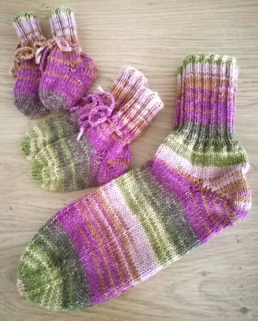 Öko Socken mit Aloe Vera und Jojobaöl . Newborn . 6-12 Monate . Größe 41