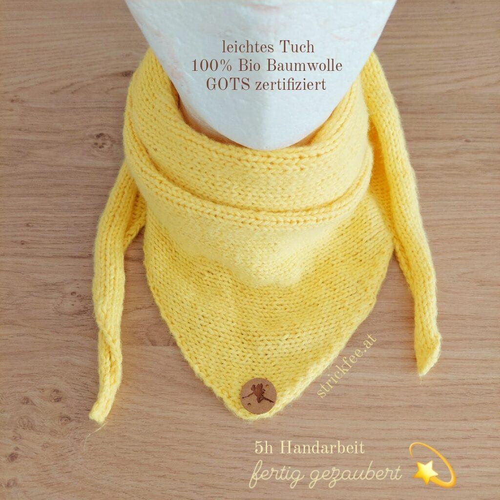 handgestrickt Tuch Biobaumwolle